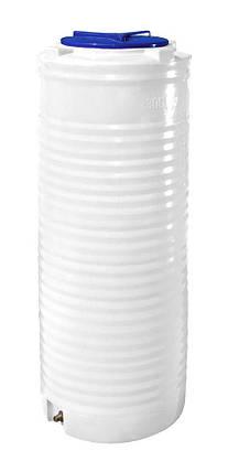 Бесплатная доставка. Вертикальная узкая емкость 300 литров бочка пищевая, бак RVО У, фото 2