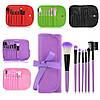 Набор профессиональных кистей для макияжа (7 предметов+чехол) Makeup Tool Brush Set pink (розовый), фото 4
