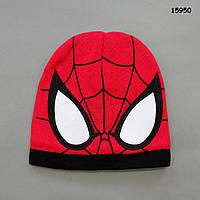 Теплая шапка Spiderman для мальчика. 42-49 см