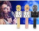 Беспроводной Караоке-микрофон с динамиком Bluetooth WS-858 Pink, фото 5