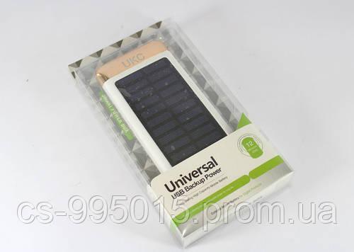 Мобильная зарядка  POWER BANK Solar+Led 15000 mAh