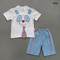 """Летний костюм """"Панда"""" для мальчика. 62 см"""
