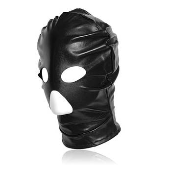 Маска на голову для фетиш,садо мазо,БДСМ.Черная.