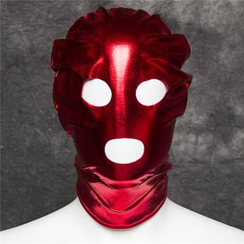 Красная маска на голову для фетиш,садо мазо,БДСМ.