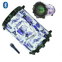 "Bluetooth колонка-бумбокс 6,5"" 10W Blue"