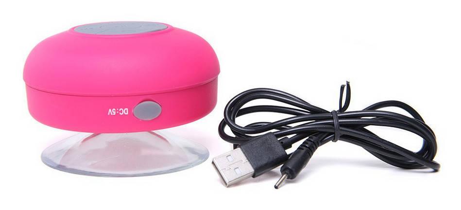 Мобильная Колонка SPS X1 Pink waterproof портативная колонка водонепроницаемая с присоской и блютузом