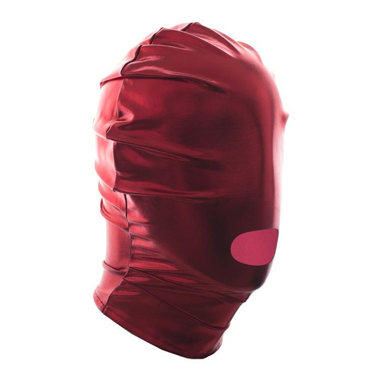 Маска на голову для фетиш,садо мазо,БДСМ.Красная