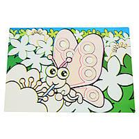 Детский сервировочный коврик для рисования водой Fissman БАБОЧКА (Пластик)