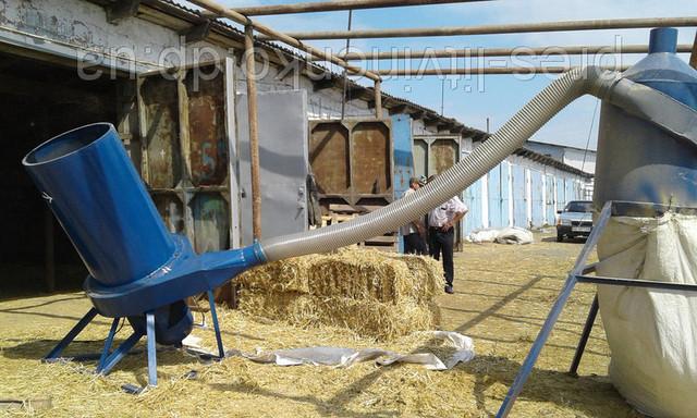 Измельчители соломы, веток, зерна