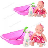Кукла пупс с ванной