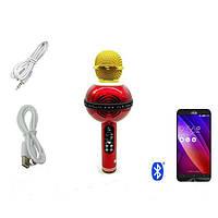 Портативный караоке-микрофон WS-878 Red беспроводной караоке микрофон - колонка 2 в 1