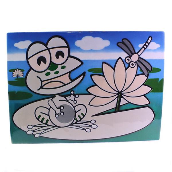 Детский сервировочный коврик для рисования водой Fissman ЛЯГУШОНОК (Пластик)