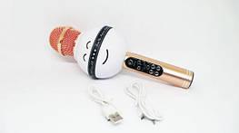 Портативный караоке-микрофон WS-878 White беспроводной караоке микрофон - колонка 2 в 1