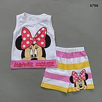 Летний костюм Minnie Mouse для девочки. 80 см, фото 1