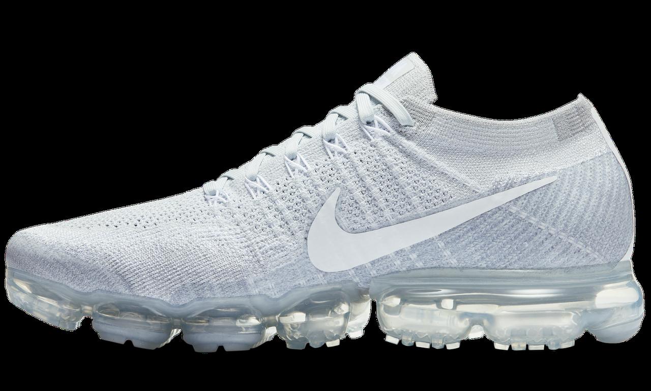 Мужские кроссовки Nike Air VaporMax (Найк Аир Макс) белые