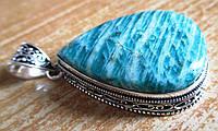 """Яркий кулон с амазонитом """"Большая капля"""" от Студии  www.LadyStyle.Biz, фото 1"""