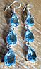 """Серебряные серьги с  голубым топазом  """"Диско -2"""" от студии LadyStyle.Biz"""