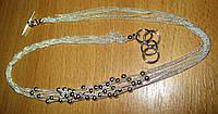 """Серебряное ожерелье  """"Шарики"""" от студии LadyStyle.Biz, фото 1"""