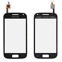Сенсорный экран Samsung I8160 Galaxy Ace 2 черный (тачскрин, стекло в сборе)