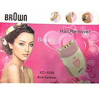 Эпилятор Hair Remover Brown 1035, женский эпилятор для удаления волос