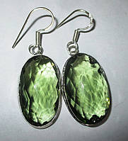 """Элегантные серьги с зеленым аметистом """"Весеннее"""" от Студии  www.LadyStyle.Biz, фото 1"""