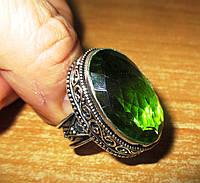 """Яркое кольцо """"Апрель"""" с хризолитом, размер 17,9 от студии LadyStyle.Biz, фото 1"""