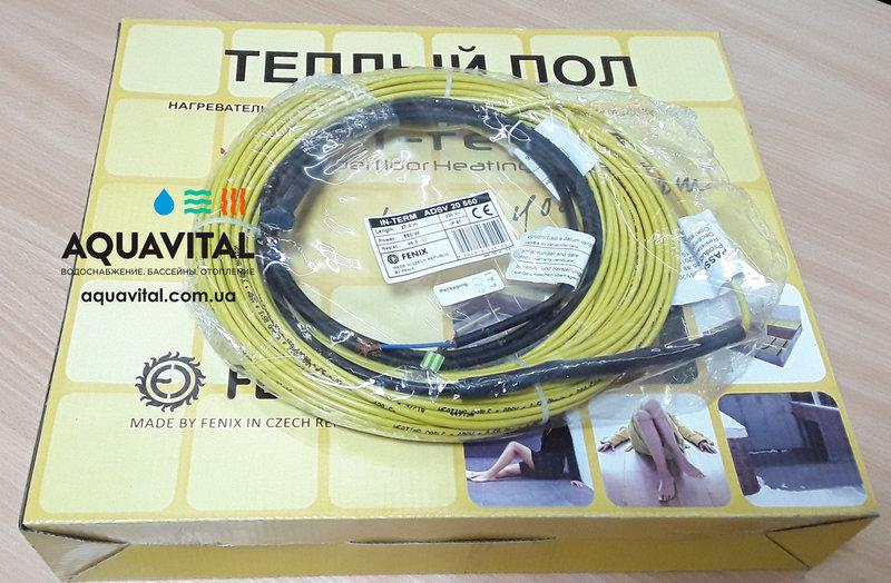 Тёплый пол IN–TERM ADSV 20, двужильный нагревательный кабель, 20 Вт/м
