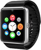 Умные часы телефон Smart Watch GSM GT08 , смарт часы с sim, SD картой Silver