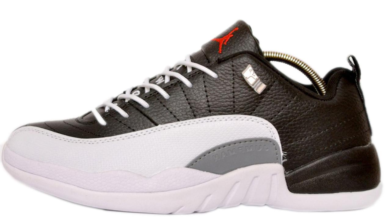 Мужские кроссовки Nike Air Jordan 12 Retro Law (Найк Аир Джордан) черно-белые