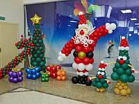 Новогоднее оформление воздушными шарами, Днепропетровск