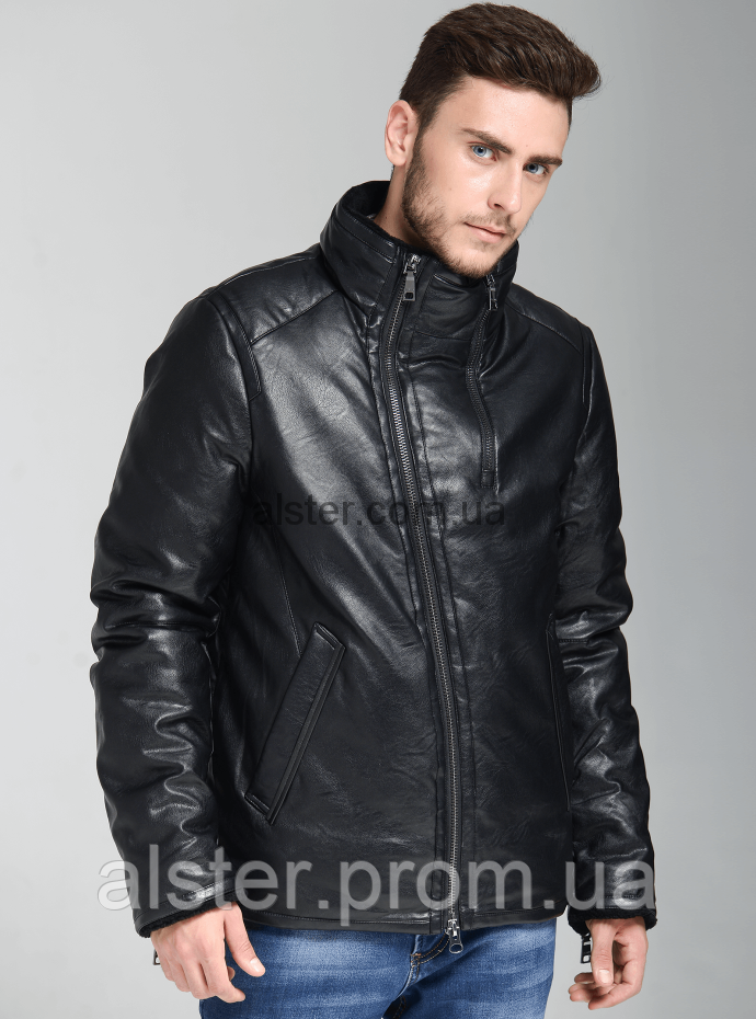 30ba0ea11ed Зимняя мужская куртка Clasna CW17MD212CK Black  купить пуховик ...