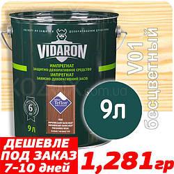 VIDARON Impregnat Защитно-Декоративная пропитка  9,0лт БЕСЦВЕТНАЯ