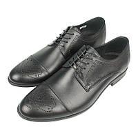 Классические кожаные черные туфли Tapi d-6065/L41 Gzarny для мужчин , фото 1