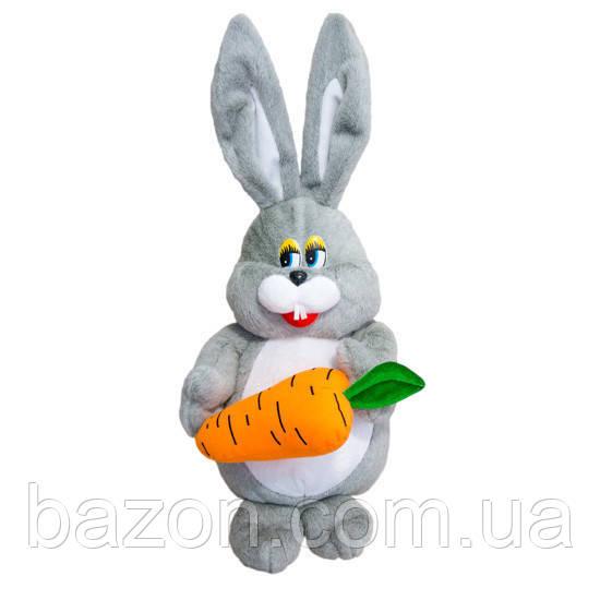 Мягкая игрушка Заяц с морковкой 56 см