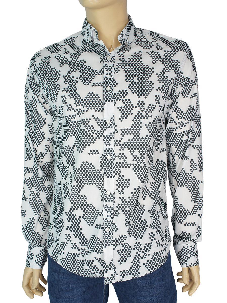 Стильная мужская рубашка Еnisse US-1243-TS
