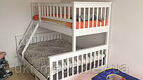 Двухъярусная трехспальная кровать Рим из дерева