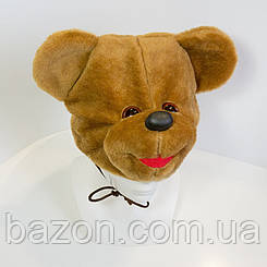 Дитяча маскарадна шапочка Ведмідь коричнева