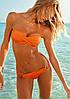 Оранжевый купальник бандо с кольцами Б-880