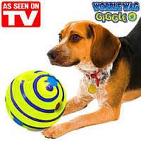 Игрушка мяч для собак Хихикающий мяч Wobble Wag Giggle