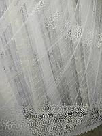 Фатиновая тюль с вышивкой по всему полю. Оптом и на метраж .Высота 2.8 м. , фото 1