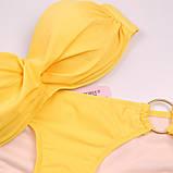 Жовтий купальник бандо з кільцями Б-883, фото 2