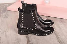 Демисезонные ботинки клепки бусины