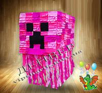 Пиньята Майнкрафт (Minekraft)розовая
