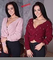 Стильный женский свитер с жемчужинами (6 цветов)