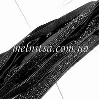 Эластичная тесьма( резинка) с люрексом, 10 мм,  цвет черный