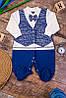 Комбинезон для мальчика с бантиком. Размер 68-74