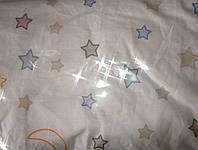Простынь хлопок детская на резинке -Звездочки