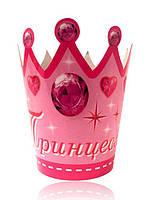 """Корона картонная детская """" Принцесса """" 10 штук"""
