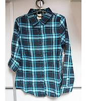 Рубашка-платье на девочку, рукав 3/4, с поясом FADED GLORY
