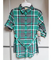 Рубашка-платье на девочку, рукав 3/4, с поясом FADED GLORY 6